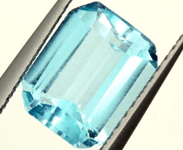SWISS BLUE TOPAZ FACETED   IRRIDATED 2.5CTS  ADG-641