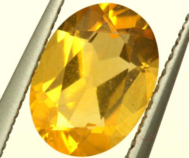 CITRINE NATURAL  FACETED HIGH CLARITY  1CTS ADG-646