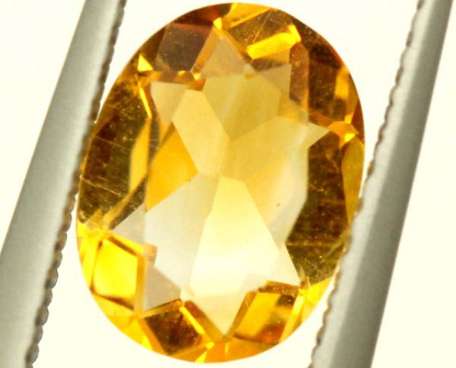 CITRINE NATURAL  FACETED HIGH CLARITY 1 CTS ADG-647