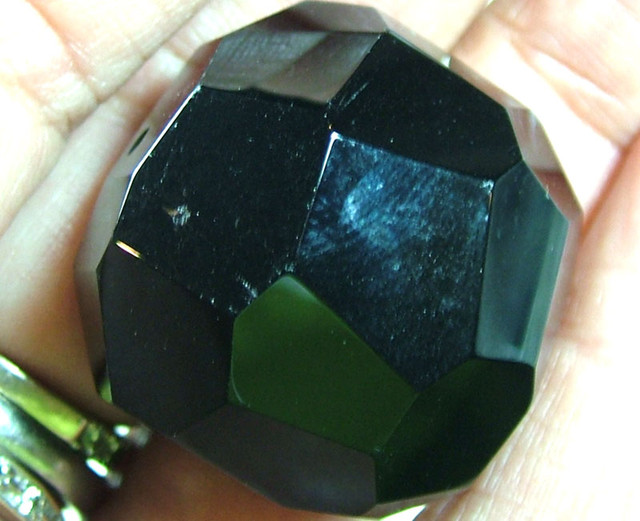 BLACK ONYX BEAD FACETED 111CTS AS-1921