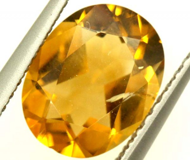 CITRINE NATURAL  FACETED HIGH CLARITY 1.5 CTS ADG-654