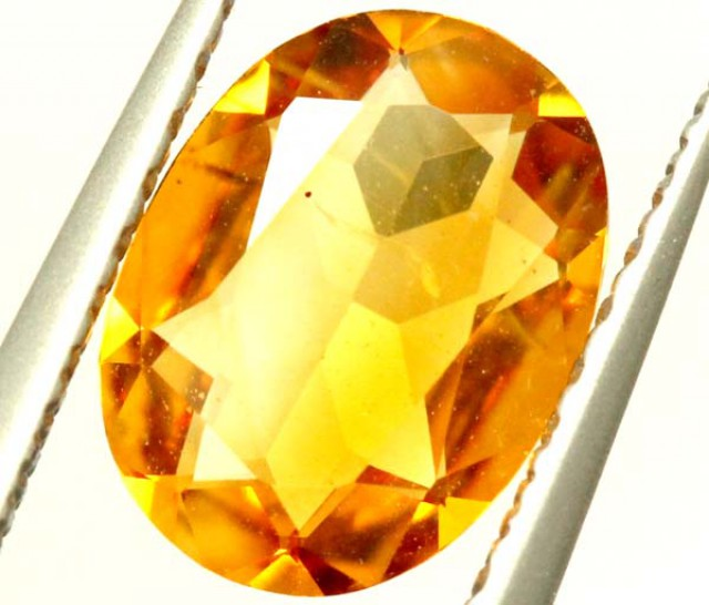 VVS1 CITRINE NATURAL  FACETED HIGH CLARITY  0.80CTS ADG-649