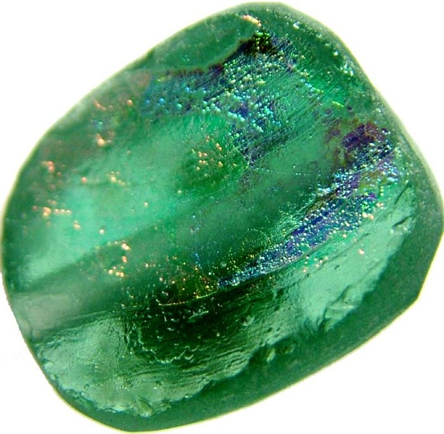ANCIENT GLASS BEAD  FROM AFGANISTAN-DRILLED 7.40 CTS MX 4484