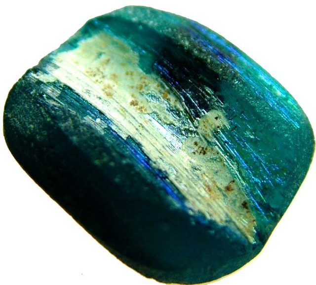 ANCIENT GLASS BEAD  FROM AFGANISTAN-DRILLED 5.75 CTS MX 4494