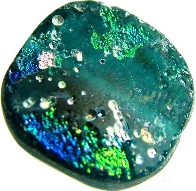 ANCIENT GLASS BEAD  FROM AFGANISTAN-DRILLED 19.35CTS MX 4513