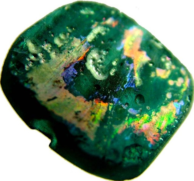 ANCIENT GLASS BEAD  FROM AFGANISTAN-DRILLED 4.90 CTS MX 4520