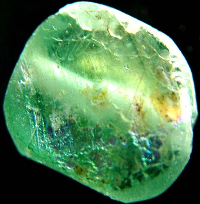 ANCIENT GLASS BEAD  FROM AFGANISTAN-DRILLED 5.00 CTS MX 4532