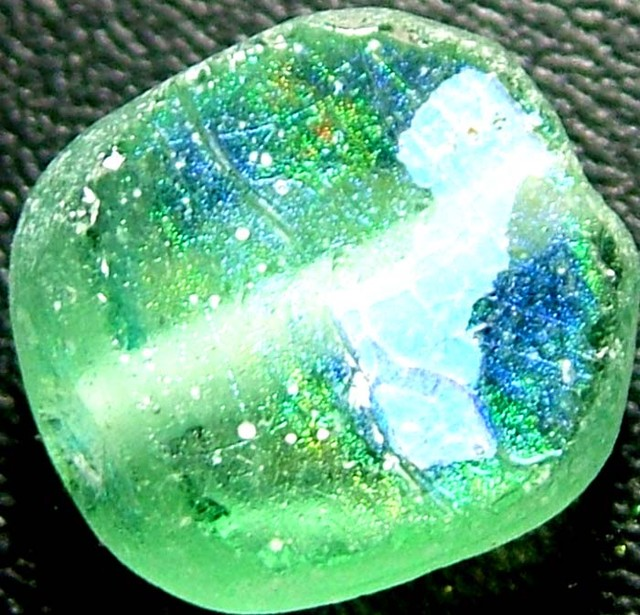 ANCIENT GLASS BEAD  FROM AFGANISTAN-DRILLED 5.45 CTS MX 4546