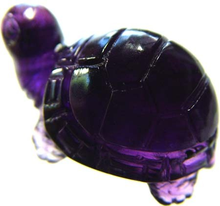 AMTHEYST TURTLE CARVING 33.15 CTS [MX4626]