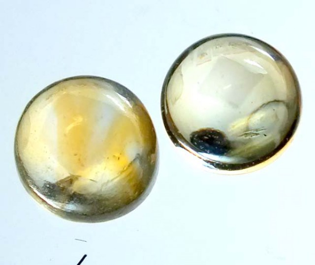 CITRINE NATURAL  CABOCHON PACEL OF 2 3.5CTS ADG-765