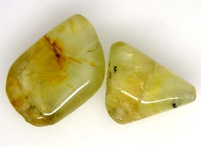PREHNITE BEAD DRILLED 2 PCS 31.5 CTS  NP-1383