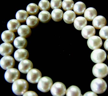 FRESH WATER PEARL STRAND-ROUNDS   9-10  MM  279.35 CTS PF796