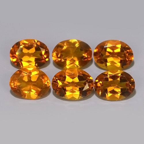 6.60 CTS TOP DAZZLING NATURAL OVAL CUT ULTRA RARE CITRINE NR!