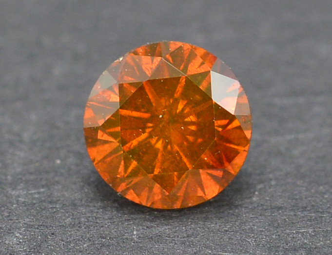 0.25 Carat Natural Fancy Orange Diamond Gemstone