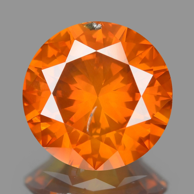 Diamond 1.00 Cts Sparkling Fancy Intense Orange Red Natural