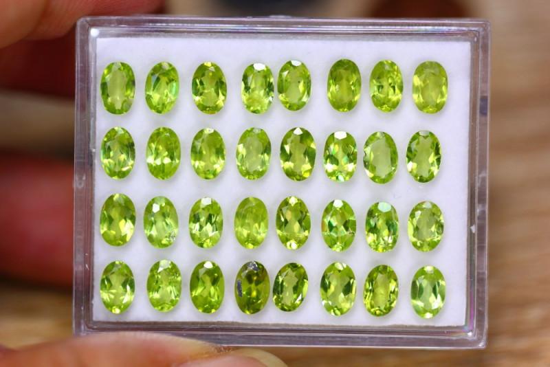 15.34ct Natural Green Peridot Oval Cut Lot V7634