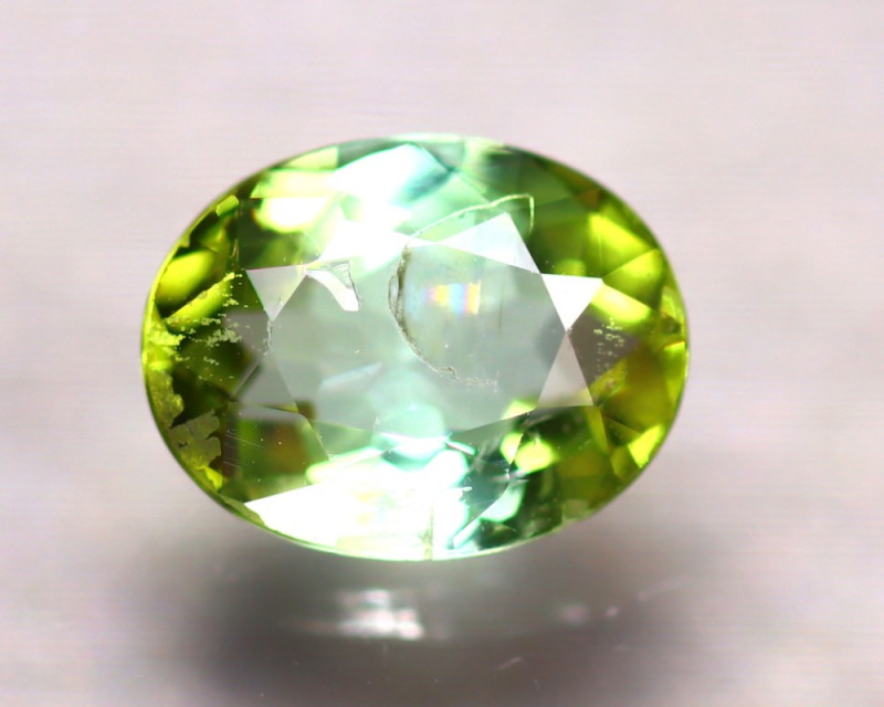 Tourmaline 1.10Ct Natural Green Tourmaline D1812/B49
