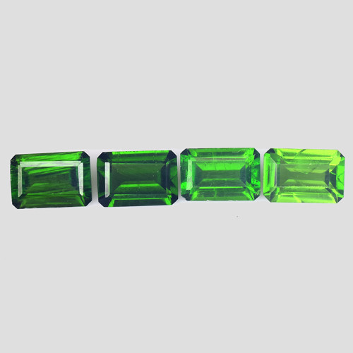 Chrome Diopside 2.51 Cts 4Pcs Natural Green Color Gemstone