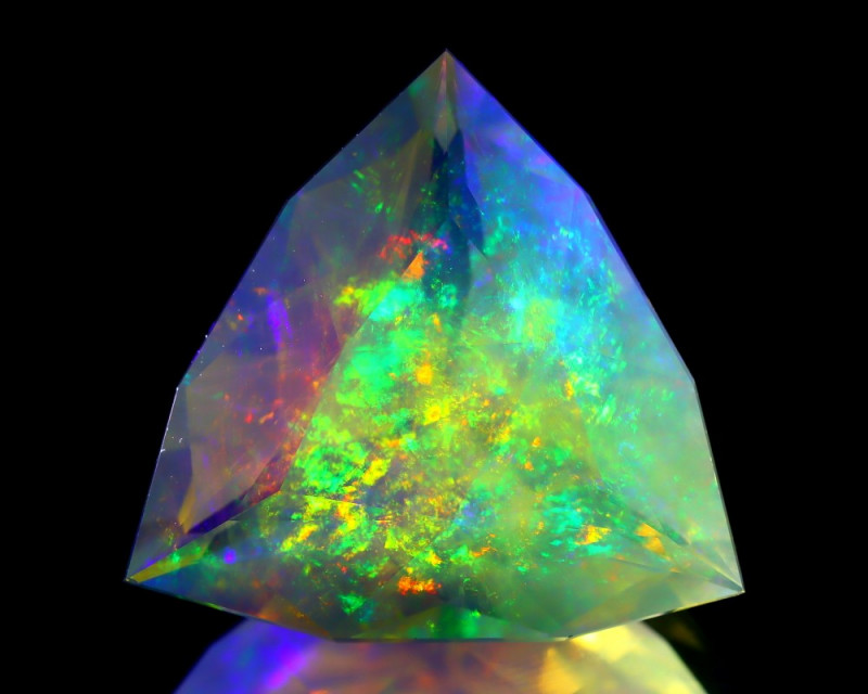 ContraLuz 16.02Ct Trillion Cut Mexican Very Rare Species Opal A1607