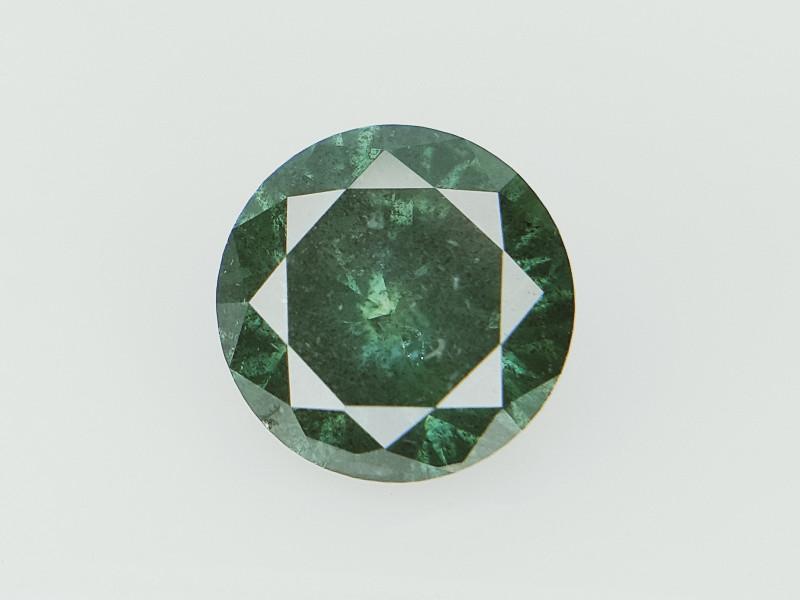 0.69 CTS  , Green Colored Diamond , Unique Salt and Pepper Green Colored DI