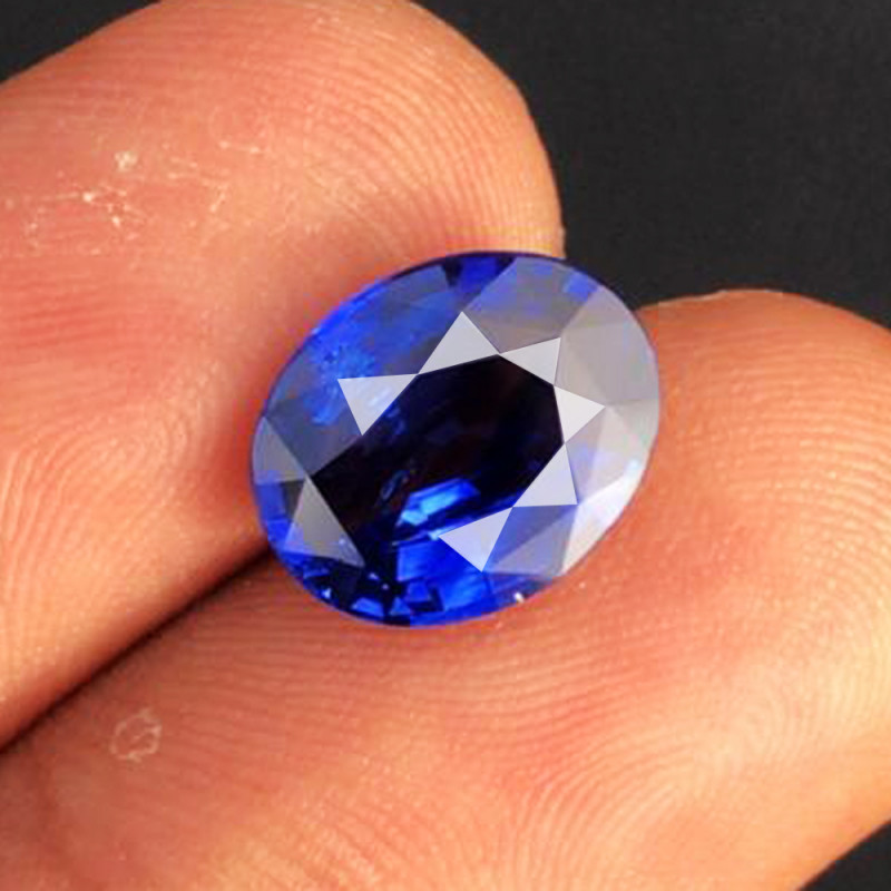 3.50 CT SAPPHIRE ROYAL BLUE ONLY HEATED 100% NATURAL MINE SRI LANKA