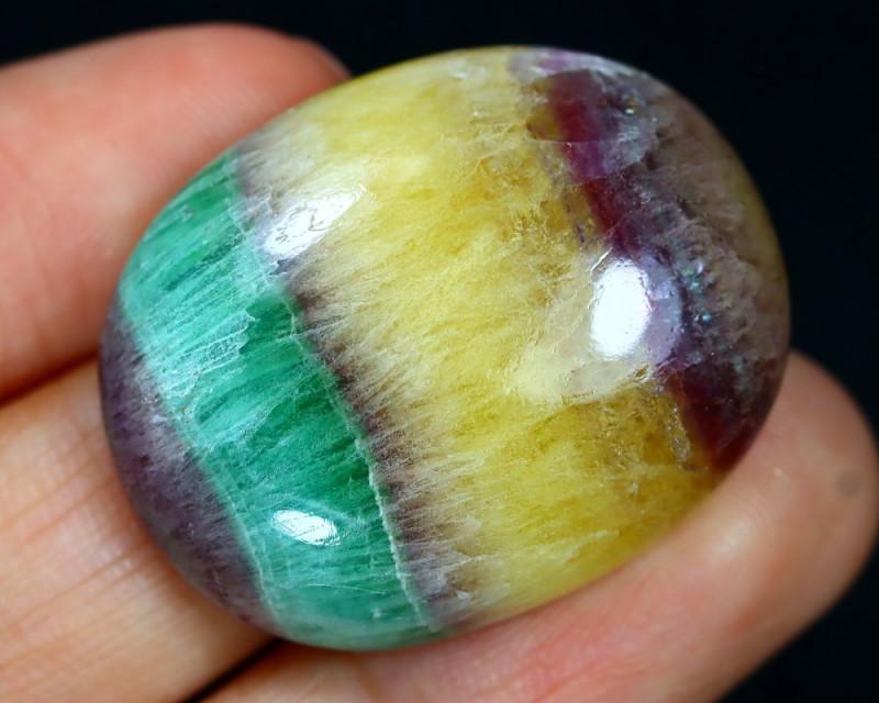 Fluorite 65.87Ct Natural Multicolor Fluorite Cabochon B1724