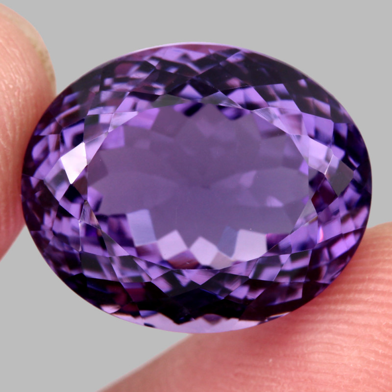 20.15  Ct. Top Quality 100% Natural Rich Purple Amethyst Uruguay Unheated