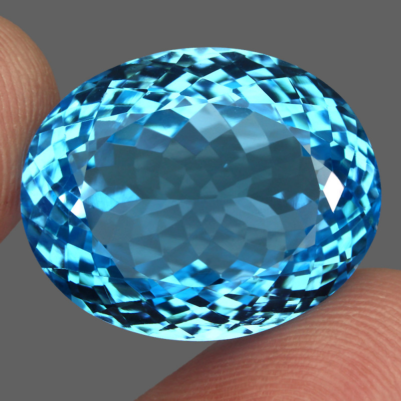 49.22  ct. 100% Natural Earth Mined Top Quality Blue Topaz Brazil
