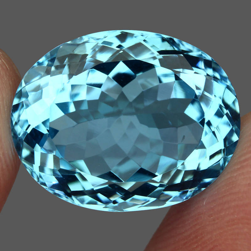 21.61 ct. 100% Natural Earth Mined Top Quality Blue Topaz Brazil
