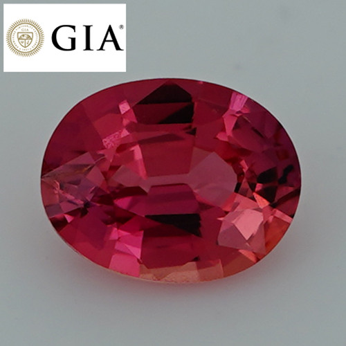 1.22 CT GIA CERTIFIED !! Collector Grade  Orangy Pink Padparadscha Sapphire