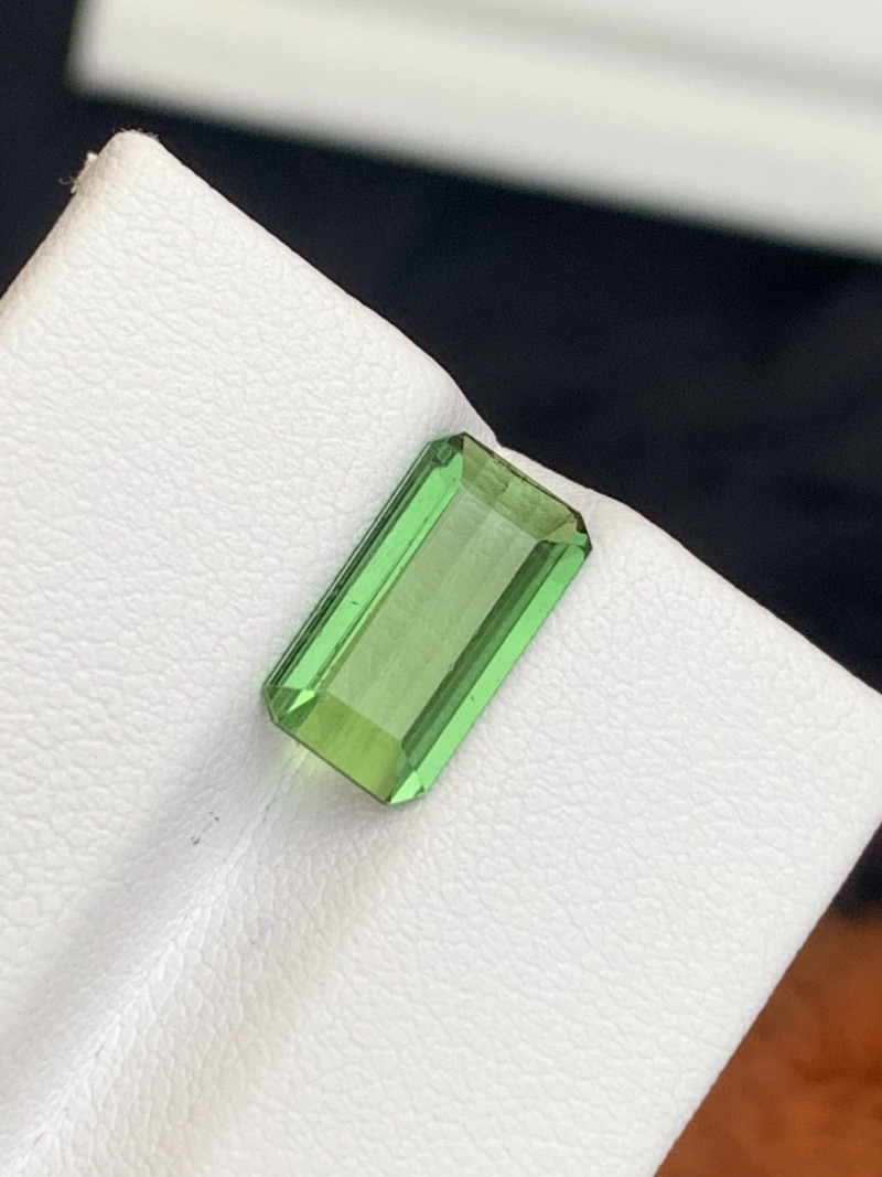 2.25 carats Transparent Green colour Tourmaline Gemstone From  Afghanistan