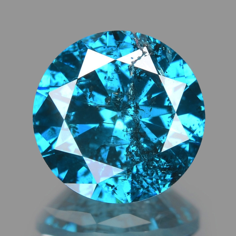 Diamond 1.00 Cts Sparkling Fancy Intense Blue Natural