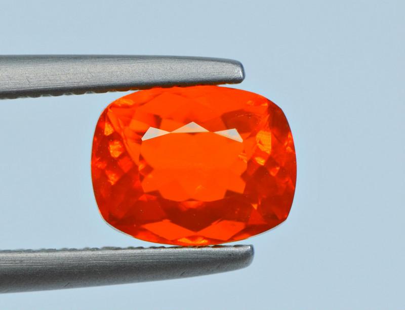 1.20 Carat Mexican Fire Opal Cut Gemstone