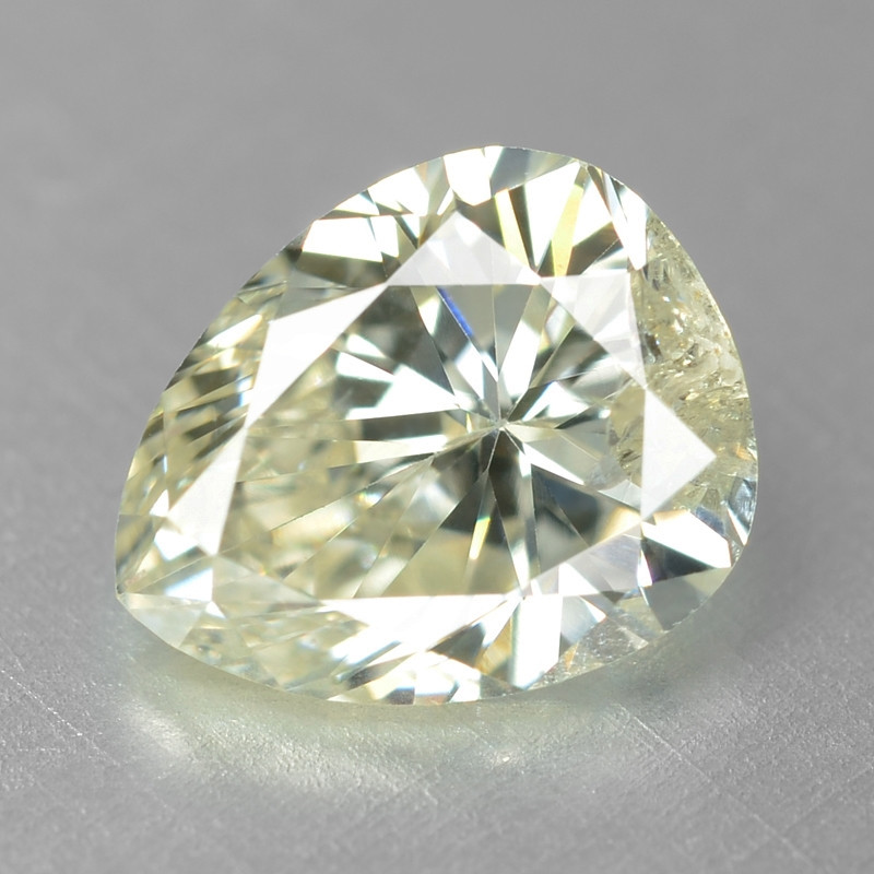 Diamond 0.40 Cts Sparkling Fancy White (Yellowish) Natural