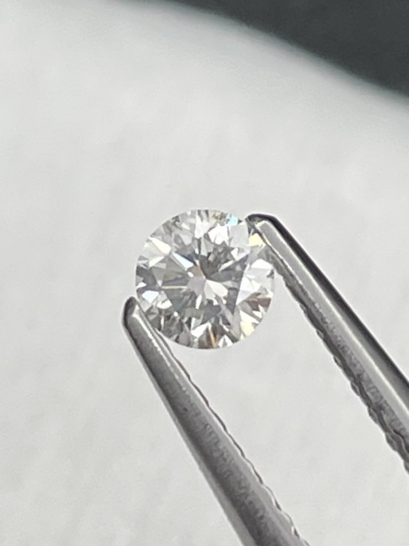Round Brilliant AAA Grade Natural White Diamond 0.19 Cts  Untreated