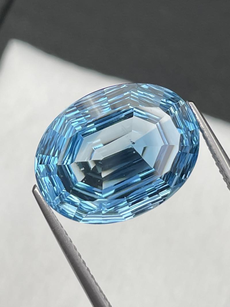 13.25 Cts Master Cut Fine Quality Swiss Blue Natural Topaz