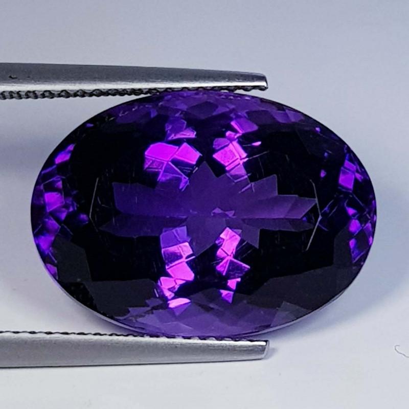 16.11 ct  Top Quality Gem  Oval Cut Natural Purple Amethyst