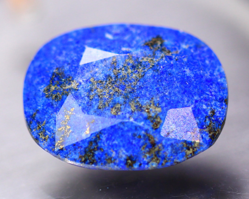 16.18Ct Natural Lapis Lazulli Faceted Oval Cut Lot LZ8956