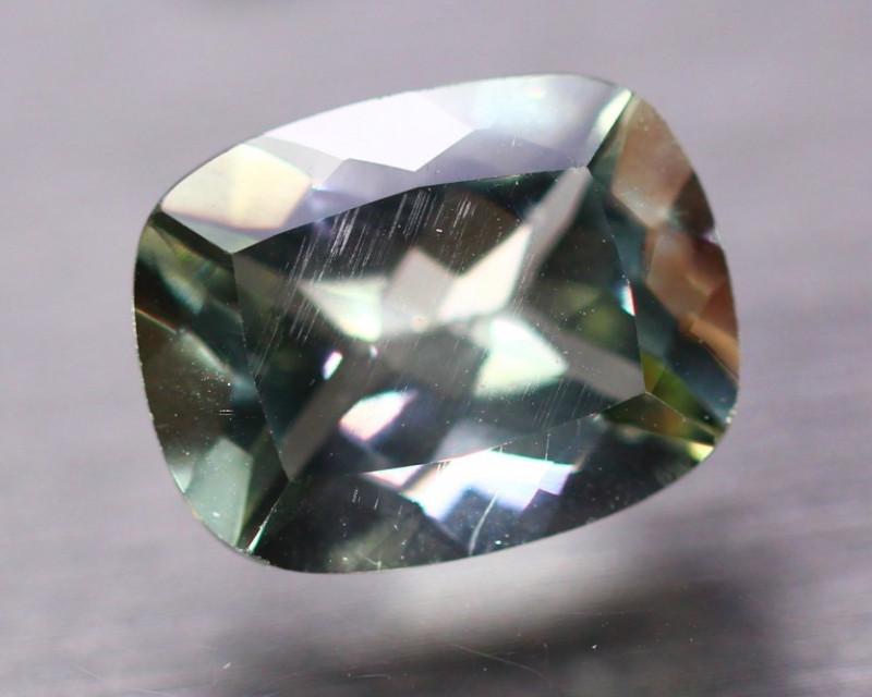 6.52ct Natural Green Prasiolite Octagon Cut Lot B3856
