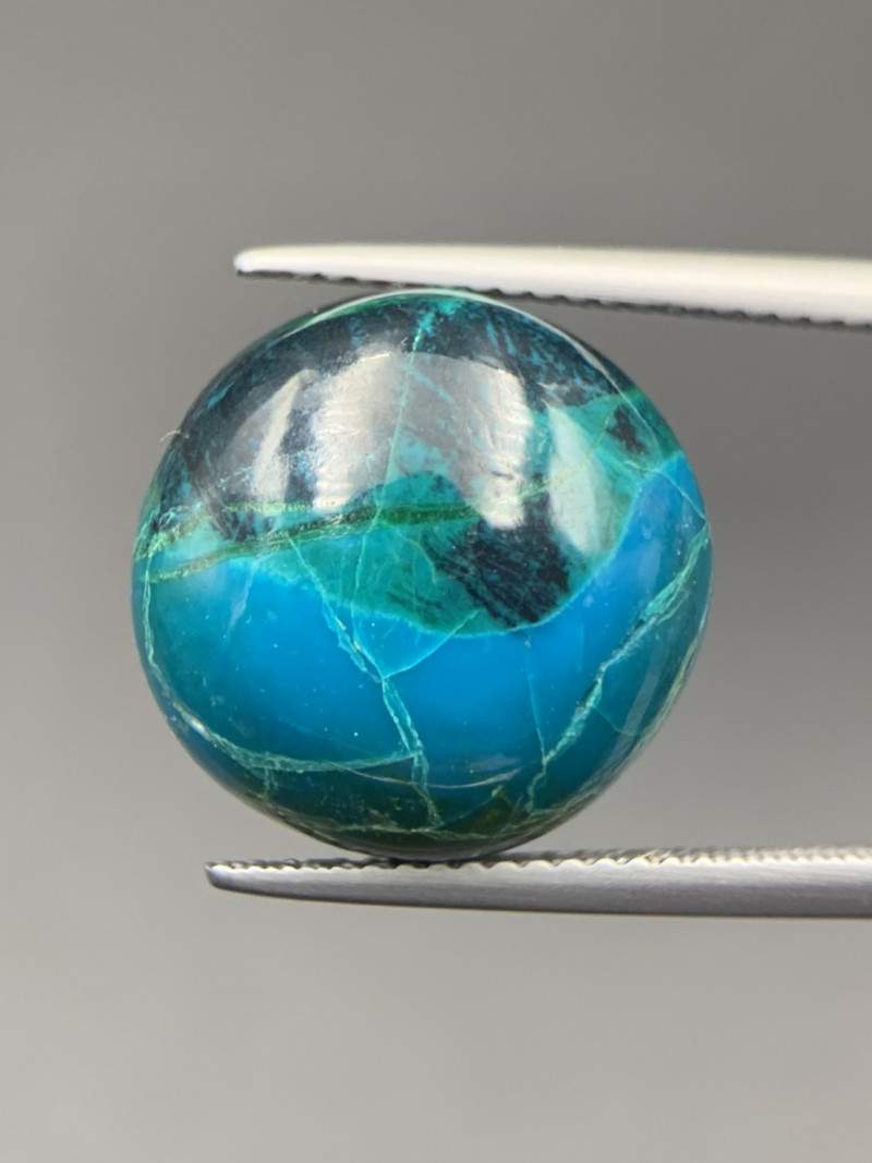 15.40 Cts Top Quality Chrysocolla Cabochon. Crs-65639