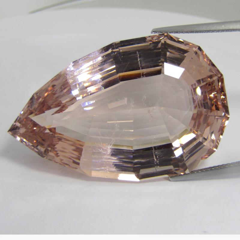 115.50Cts Beautiful Natural Peach Pink Color Morganite Pear Custom Cut Coll