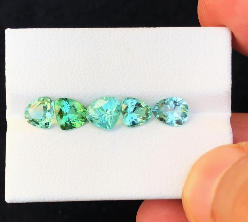 4.45 Ct Natural Blue & Green Transparent Tourmaline Gemstones Parcels