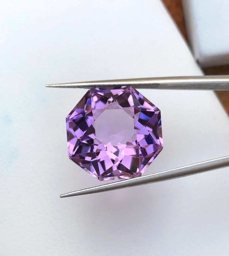 15.80 Ct Natural Purple Transparent Amethyst Ring Size Gemstone