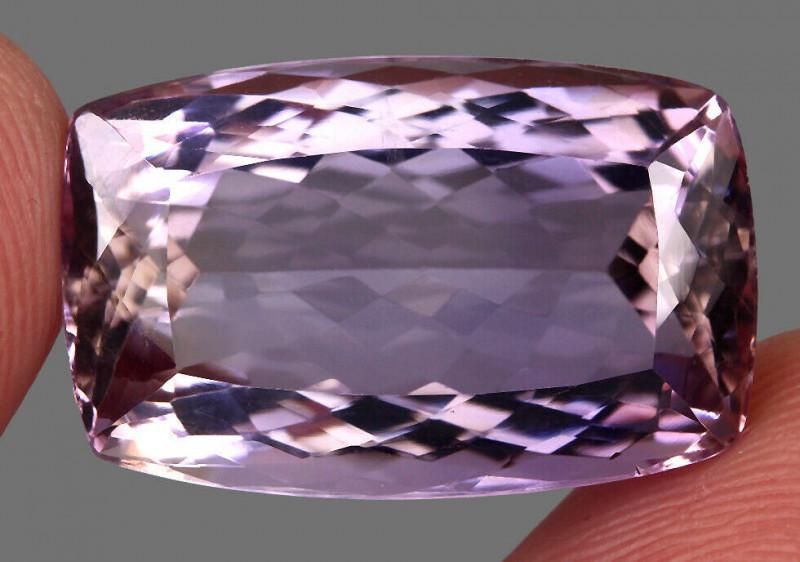 Clean 28.62ct. 24x15x10mm. Antique 100%natural Top Bi Colors Purple Yellow