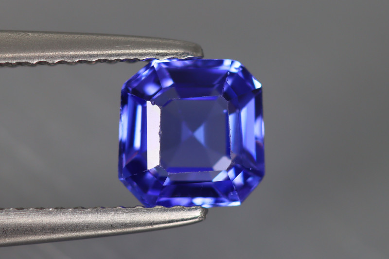 1.245 CT TANZANITE PURPLISH BLUE 100% NATURAL GEMSTONE