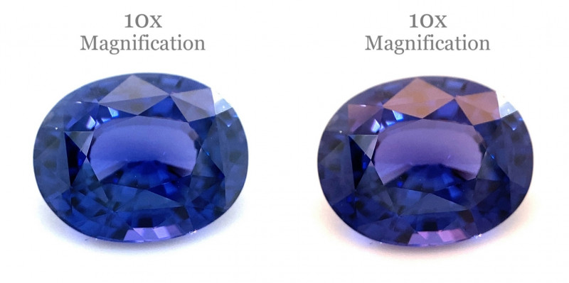 2.34ct Oval Blue to Purple Vivid Sapphire GIA Certified Sri Lanka