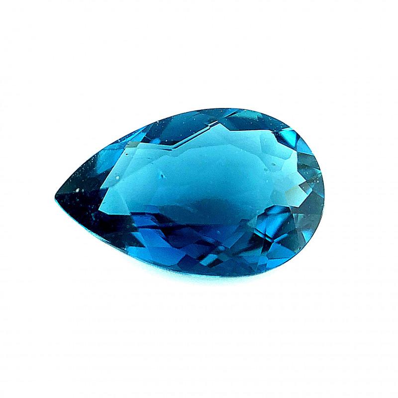 1.67(ct) Tourmaline unusual London blue color Faceted Gem