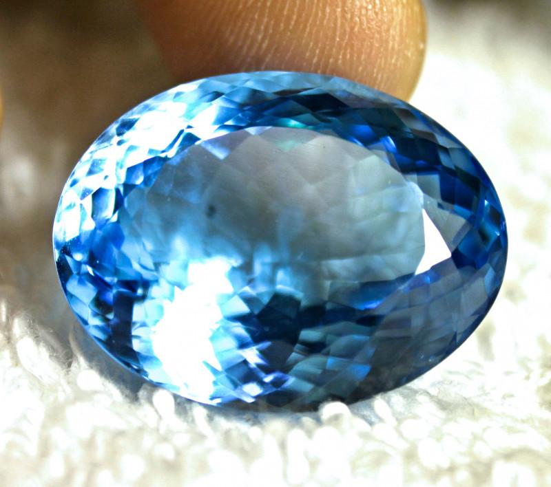 46.12 Carat Brazilian Blue VVS Topaz - Gorgeous
