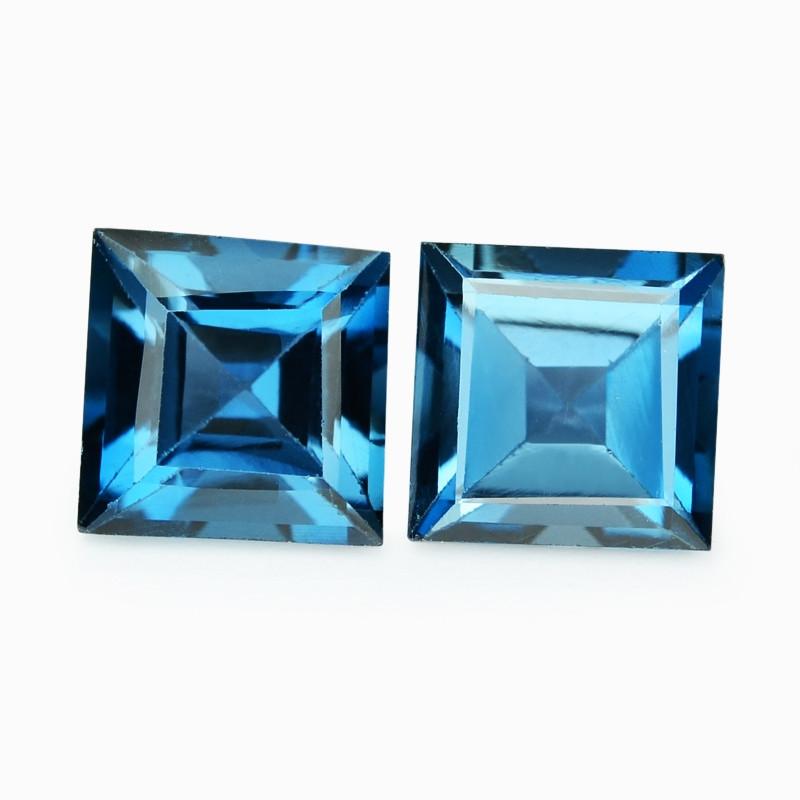 Topaz 2.79 Cts 2Pcs London  Bluie Natural Gemstones