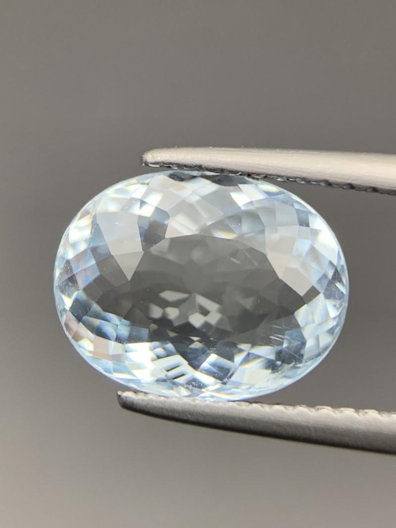 2.95 Cts  Brilliant Quality Genuine  Aquamarine Gemstone. Aq-65986